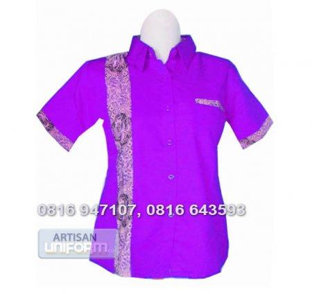 Seragam » Baju Seragam Kerja 8 - American Drill kombinasi batik ...